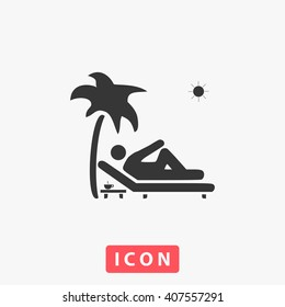 holiday Icon vector. Simple flat symbol. Perfect Black pictogram illustration on white background.