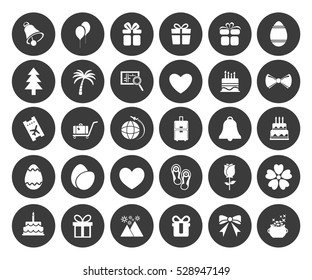 Holiday icons set