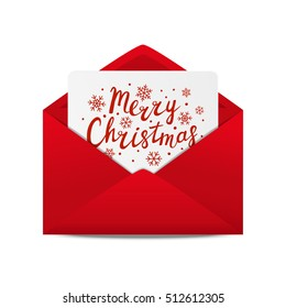 Holiday letter with Christmas greeting card