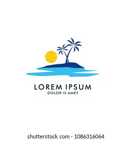 Holiday Logo Design Template. Beach Logo Design Template. Summer Logo design Template. Logo Design Template