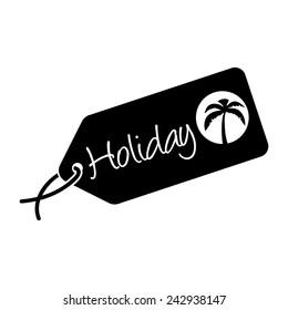 Holiday, luggage tag, vector illustration