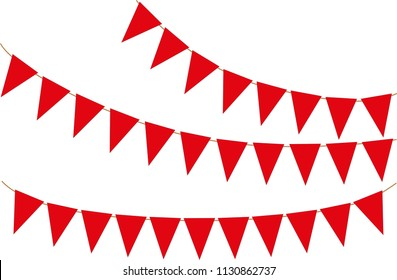 Holiday, party flag pattern. Vector Illustration