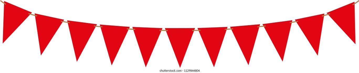 Holiday, party flag. Vector Illustration