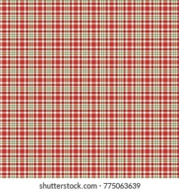 Holiday plaid. Christmas pattern. Red and green repeating plaid pattern swatch for gift wrap, cards, gift tags, gift bags and more. Xmas.