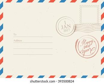 Holiday Postcard Background : Vector Illustration