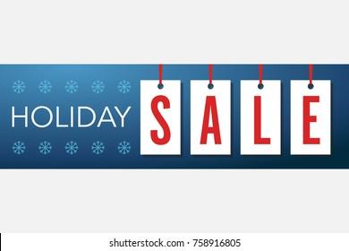 Holiday Sale Hang Tag Holiday Sale Banner Vector Illustration 2