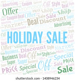 Holiday Sale Word Cloud. Word cloud Made With Text.
