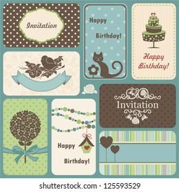 Holiday set of retro cards