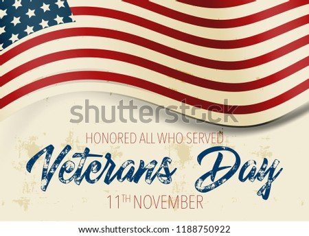 holiday veterans day usa flag background stock vector royalty free