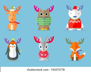 Holiday Winter Animals wants to be Reindeer