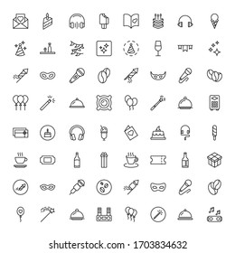Holidays line icon set. Collection of vector symbol in trendy flat style on white background. Holidays sings for design.