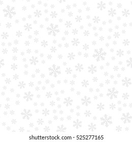 Holidays winter seamless pattern with Snowflakes. Abstract print ornament. Repeating background texture. Fabric design. Ready for your design. Vector Illustration.