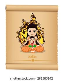 Holika Dahan - Hindu Mythological Cartoon Characters