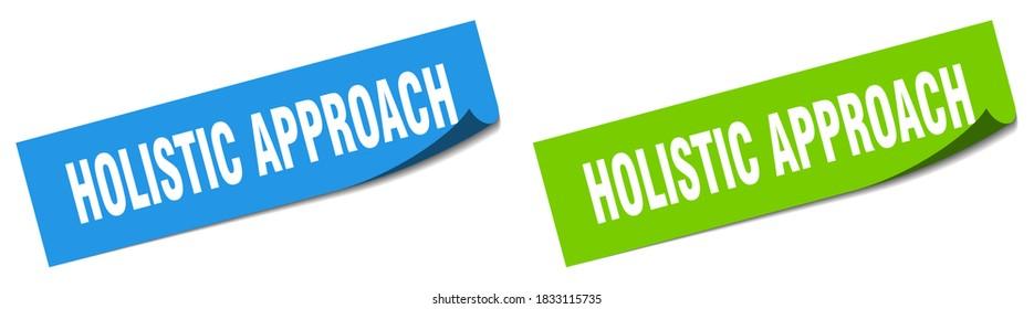 holistic approach paper peeler sign set. holistic approach sticker