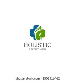 Holistic therapy clinic, foot , base ,toe ,trotters , trilbies  logo design inspiration and concept