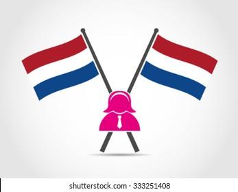 Holland Dutch Flag Emblem Woman Politician