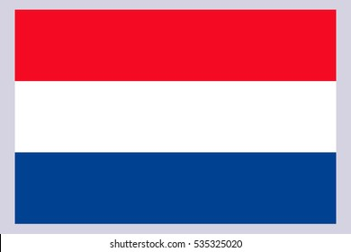 Holland flag. Dutch flag.original and simple Nederlands, Netherlands or Holland flag isolated vector in official colors and Proportion Correctly