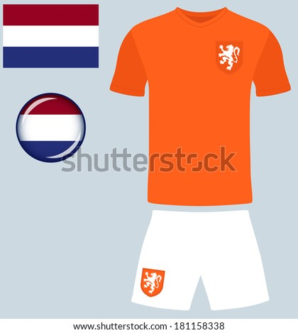 5b3331f37a2 Holland Football Jersey. Abstract vector image of the Netherlands Football  Team kit