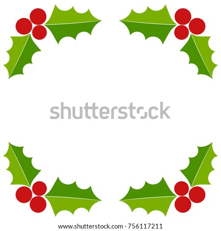 Holly berry christmas border greeting card stock vector royalty holly berry christmas border greeting card illustration m4hsunfo