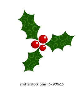 Holly berry - Christmas symbol vector illustration