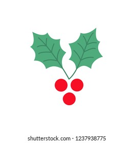 Holly Berry Vector Illustration For Backgrounds, Logos, Stickers, Labels, Tags And Other Design.