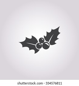 Holly Icon Vector.