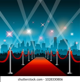 Hollywood movie film fetival red carpet star entrance background