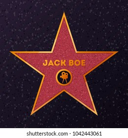 Hollywood movie star honoring actor on celebrity walk.