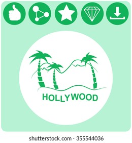 Hollywood vector icon