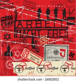 Holocaust Nazi sticker label