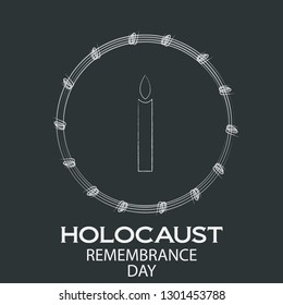 holocaust remembrance day illustration vector image