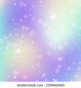 Hologram abstract background. Liquid gradient backdrop with hologram. 90s, 80s retro style. Iridescent graphic template for brochure, flyer, poster design, wallpaper, mobile screen.