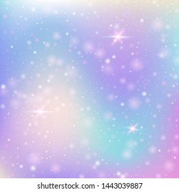 Hologram abstract background. Stylish gradient backdrop with hologram. 90s, 80s retro style. Iridescent graphic template for brochure, flyer, poster design, wallpaper, mobile screen.