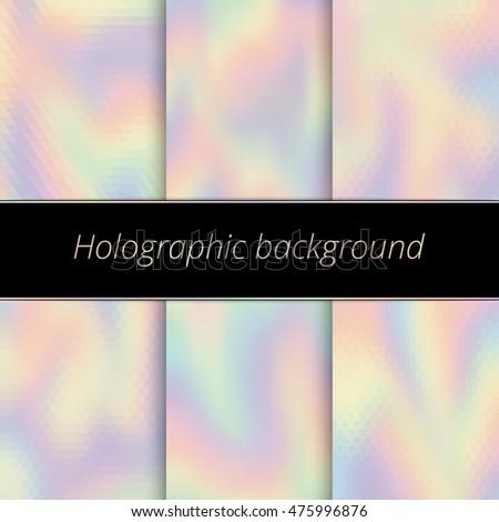 Hologram Background Holographic Art Rainbow Backdrop Stock ...