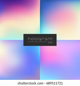 Hologram dark gradient set