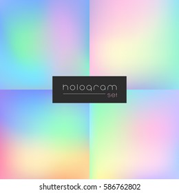 Hologram gradient set of four backgrounds