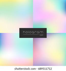Hologram rainbow gradient set