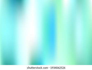 Holograph Minimal Banner. Defocused Girlie Foil Holo Teal. Rainbow Overlay Hologram Cover. Neon Texture Overlay, 80s, 90s Music Background Iridescent Holographic Fluid Girlie Horizontal Wallpaper