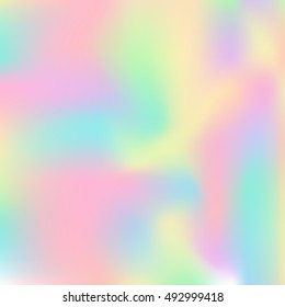 Holographic background. Abstract design element. Vector illustration. Suitable for wrapping paper, scrapbooking, invitations and other design.