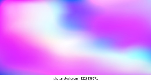 Holographic background. Holo purple cover. Abstract soft pastel colors backdrop. Trendy creative vector cosmic gradient. Mesh holographic foil. Creative neon template for banner. Vibrant print.
