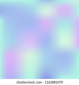 Holographic background. Holo sparkly cover. Abstract soft pastel colors backdrop. Trendy creative vector cosmic gradient. Mesh holographic foil. Creative neon template. Vibrant print.