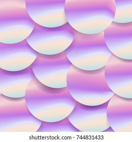 Holographic big sequined fabric textile, pink purple and violet lilac glistening sequins. Sequins texture vector