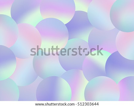 Holographic Bubbles Background Trendy Fashion Wallpaper Stock Vector