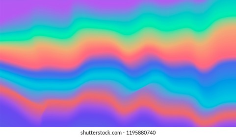 Holographic cool pshychedelic background with polarization light in 60's-70's hippie tie dye style. Retro design.