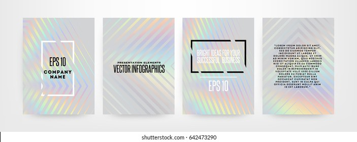 Holographic foil illustration