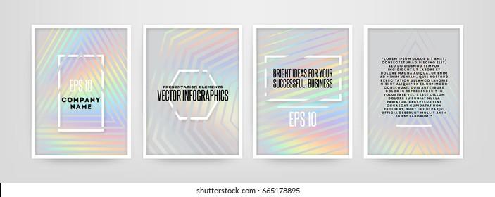 Holographic foil illustration