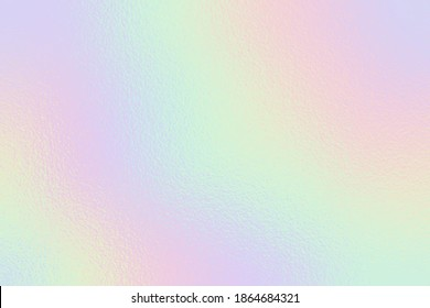 Holographic foil. Rainbow texture. Iridescent background. Neon gradient. Hologram effect. Sparkly metal texture. Soft backdrop for design prints. Silver radiance background. Metallic pattern. Vector - Shutterstock ID 1864684321