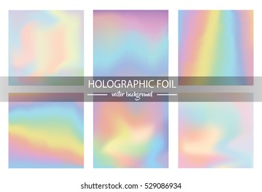 Holographic foil vector illustration