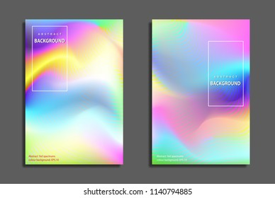 Holographic Foil. Very beautiful rainbow texture.Wonderful magic background. Fantasy colorful card. Iridescent art. Trendy punchy spectrums color.