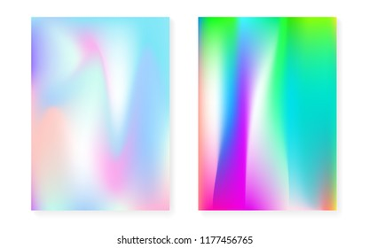 Hologram Template | Holographic Template Poster Trendy Magic Hologram Stock Vector